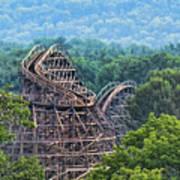 Knobels Wooden Roller Coaster  Art Print