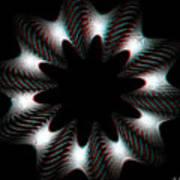 Knotplot 10 - Use Red-cyan 3d Glasses Art Print