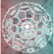 Knotplot 3 - Use Red-cyan 3d Glasses Art Print