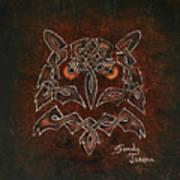 Knotty Owl Art Print