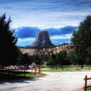 Koa Devils Tower Wyoming Art Print