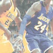 Kobe Bryant Lebron James 2 Art Print
