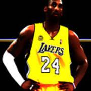 Kobe Bryant Ready For Battle Art Print