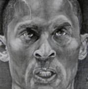 Kobe Bryant Print by Stephen Sookoo