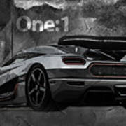 Koenigsegg One-1 Art Print