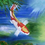 Kohaku Koi Fish 2 Art Print