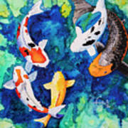Koi Family Art Print