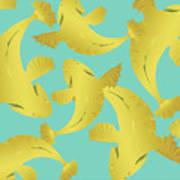 Koi Fish Sage - Lemon Art Print