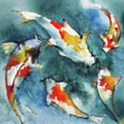 Koi Jewels Art Print