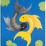 Koi Yin-yang Art Print