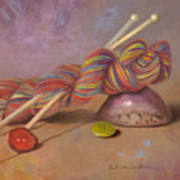 Koigu Yarn With Buttons Art Print