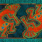 Kokopelli Dancers Art Print