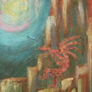 Kokopelli Night Watch Art Print