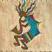 Kokopelli Sax Player Art Print