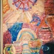 Kokopelli Zestful Spirit Dancer Art Print