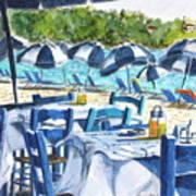 Kolios Blue Art Print