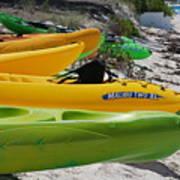 Kolorful Kayaks Art Print