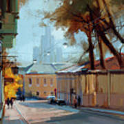 Kolpachny Lane. Autumn Motive. Art Print