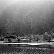 Konigssee Lake And Saint Bartoloma Art Print