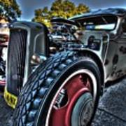 Koolsville Rat Rod. Art Print by Ian  Ramsay