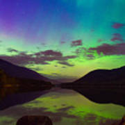 Kootenay Lake Northern Lights Art Print
