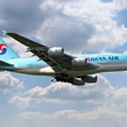 Korean Air Airbus A380 Art Print
