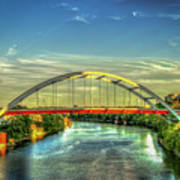 Korean Veterans Memorial Bridge 2 Nashville Tennessee Sunset Art Art Print