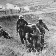 Korean War: Wounded, 1950 Art Print