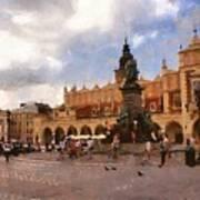 Krakow Main Market Art Print
