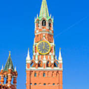 Kremlin's Clock Tower Art Print