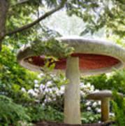 Krider Garden Mushroom Art Print
