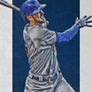Kris Bryant Chicago Cubs Art 3 Art Print