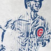 kris bryant CHICAGO CUBS PIXEL ART 2 Art Print