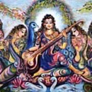 krishna - Kirtan  Art Print