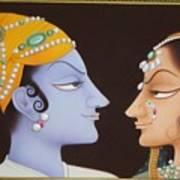Krishna N Radha Art Print