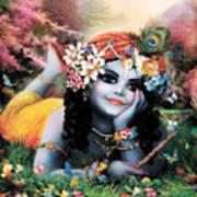 Krishna-sky Boy Art Print