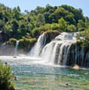 Krka National Park Waterfalls 9 Art Print