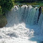 Krka National Park Waterfalls Art Print
