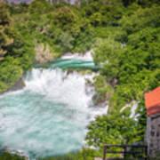 Krka Waterfall Croatia Art Print