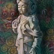 Kuan Yin Dragon Art Print