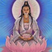 Kuan Yin Art Print by Sue Halstenberg
