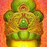 Kuan Yin's Buddha Crown Art Print