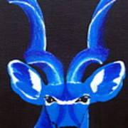 Kudu Blue Art Print