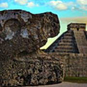 Kukulkan Pyramid At Chichen Itza In The Yucatan Of Mexico Art Print