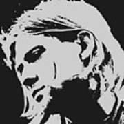 Kurt Cobain Poster Art Art Print