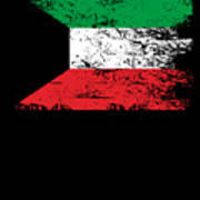 Kuwait Shirt Gift Country Flag Patriotic Travel Asia Light Art Print