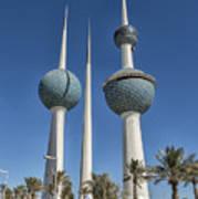 Kuwait Towers In Kuwait City, Kuwait Art Print