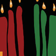Kwanzaa Card Art Print