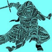 Kylo Ren - Star Wars Art - Blue Art Print