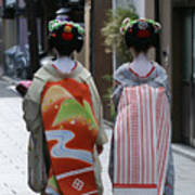 Kyoto Geishas Art Print